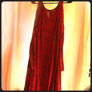 Cold shoulder summer dress